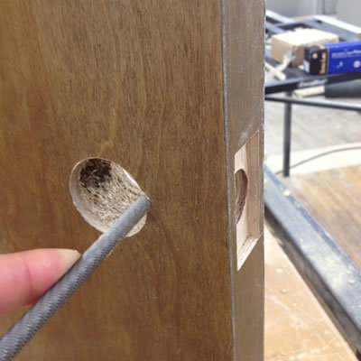 Doorknob hole drilling is one of the essential steps in how to build a door