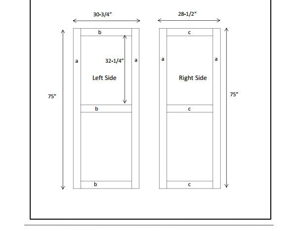door plan for making a door or building a door