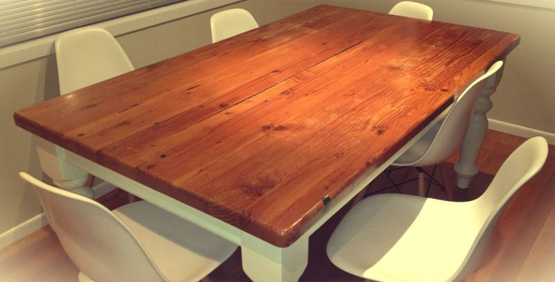 How to Build a Table - Coated Wooden Table