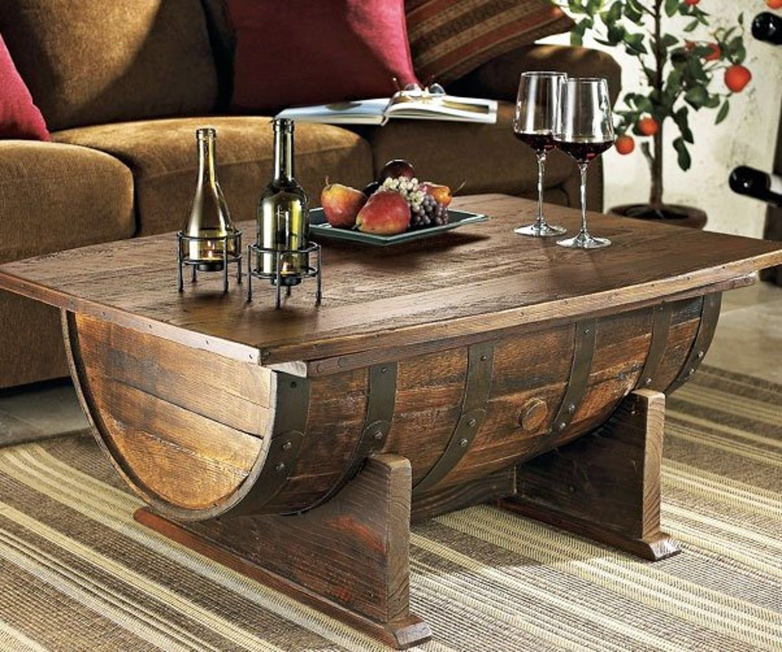 How to Make a Coffee Table -- Step-by-Step DIY Guide -- Or an extra barrel