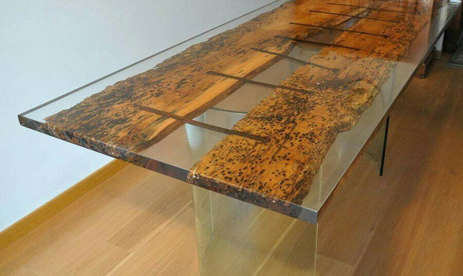How to make a DIY Epoxy Resin Table - River Table – Step-by-Step Guide -- At a certain point you start to understand that, well, who needs wood?