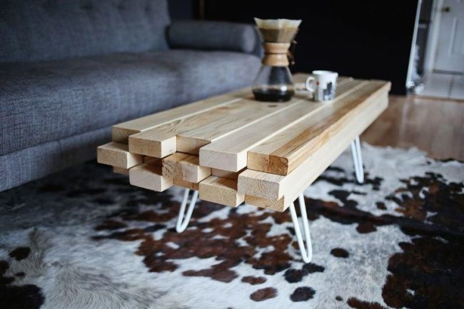 How to Make a Coffee Table -- Step-by-Step DIY Guide -- Even a sloppy coffee can be called a 'unique idea'