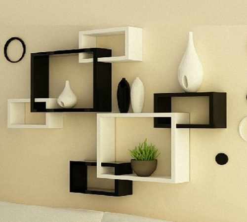 How to make a floating shelf Step-by-step DIY guide - Floating shelves in living room