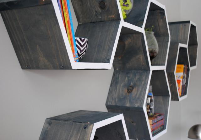 DIY wall shelf -- Step 1. How to make a honeycomb (hexagon) shelf with your own hands