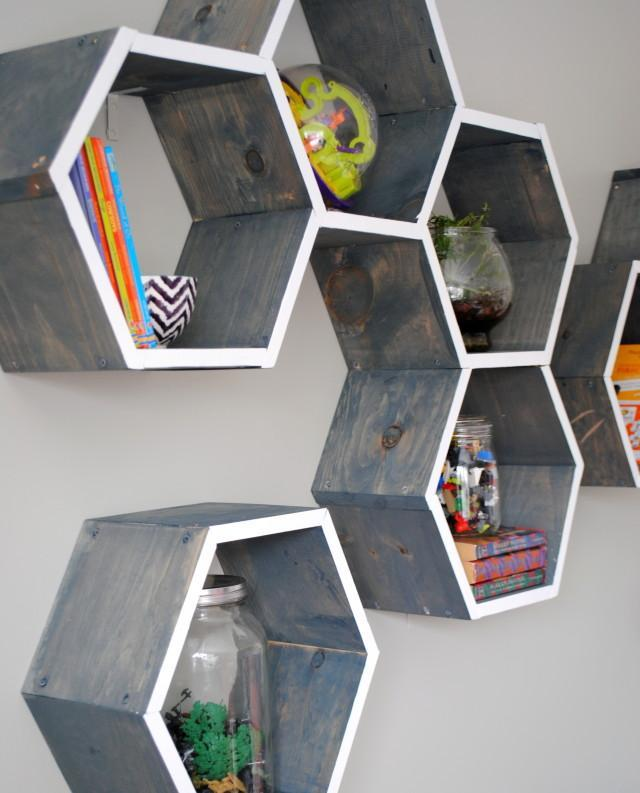 Honeycomb shelves. How to make a honeycomb (hexagon) shelf with your own hands