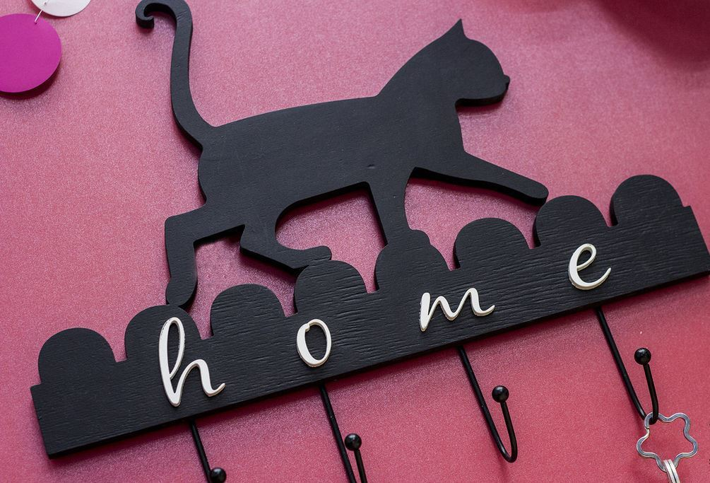 How to make a DIY Key Holder / Key hanger / key rack – Step-by-Step Guide -- Meow