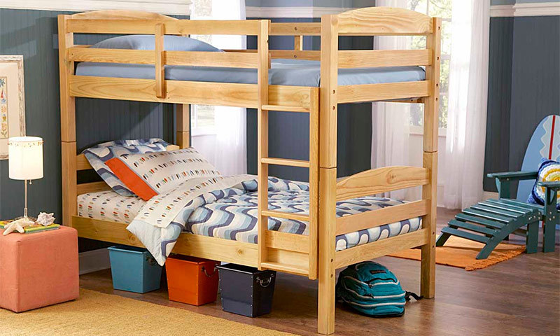 How to make a DIY bunk bed / double deck bed - Step-by-Step Guide - If necessary, grind the finished structure, process it with special varnish
