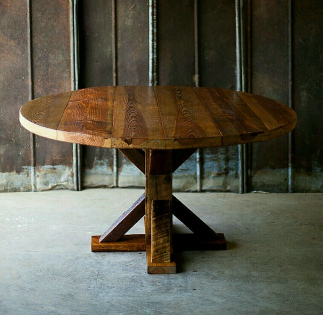 How to make a DIY round wooden table -- Solid wood table, made by hand