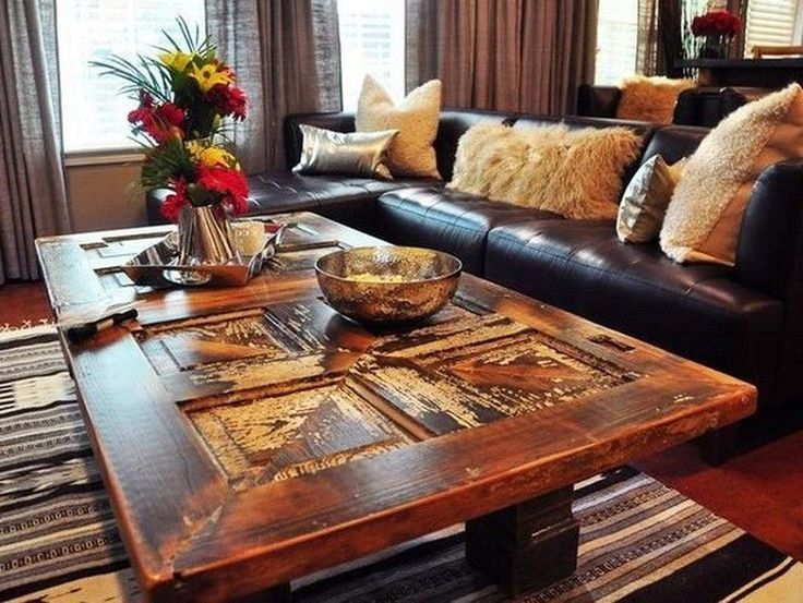 How to Make a Coffee Table -- Step-by-Step DIY Guide -- If you replaced the front or interior doors, then use the old door as material for a new table