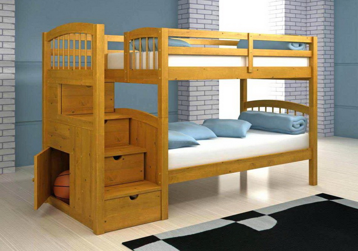How to make a DIY bunk bed / double deck bed - Step-by-Step Guide - Practical and comfortable wooden bunk bed with built-in drawers and shelves