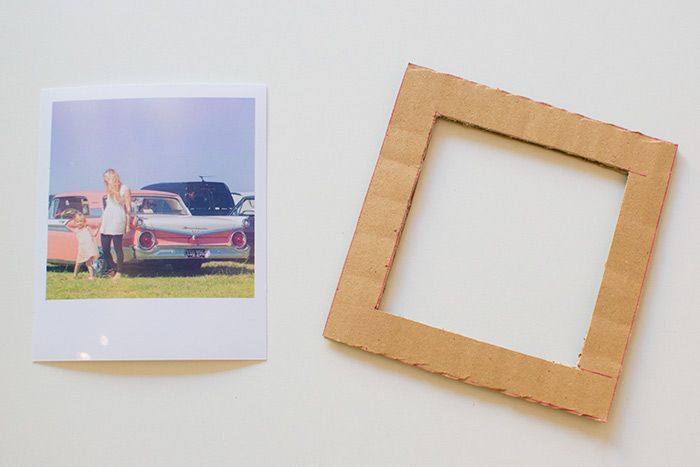 How to Make a DIY Picture Frame – Step-by-Step Guide -- You can use a piece from a packaging box, that is, corrugated cardboard (carton)