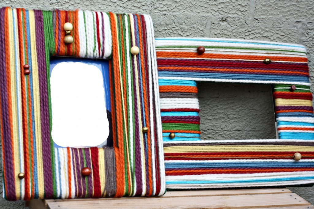 How to Make a DIY Picture Frame – Step-by-Step Guide -- During the design process , it is necessary to apply glue and wind the yarn in stages, that is, in small sections