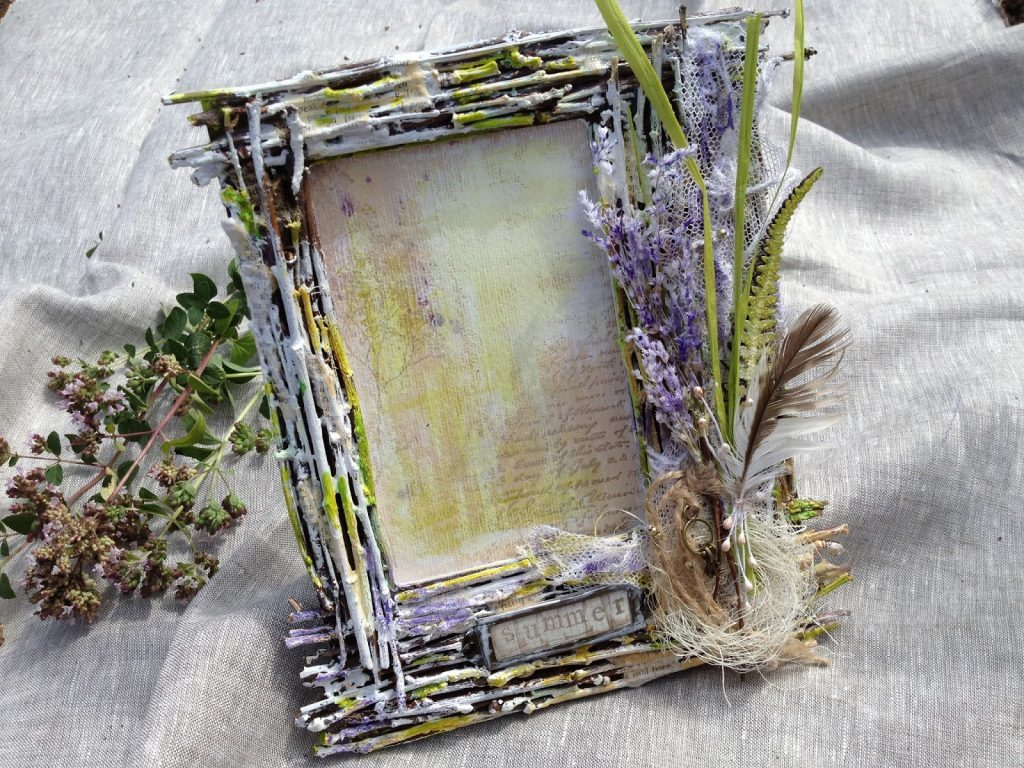 How to Make a DIY Picture Frame – Step-by-Step Guide -- You can add some flowers for a spring-looking result