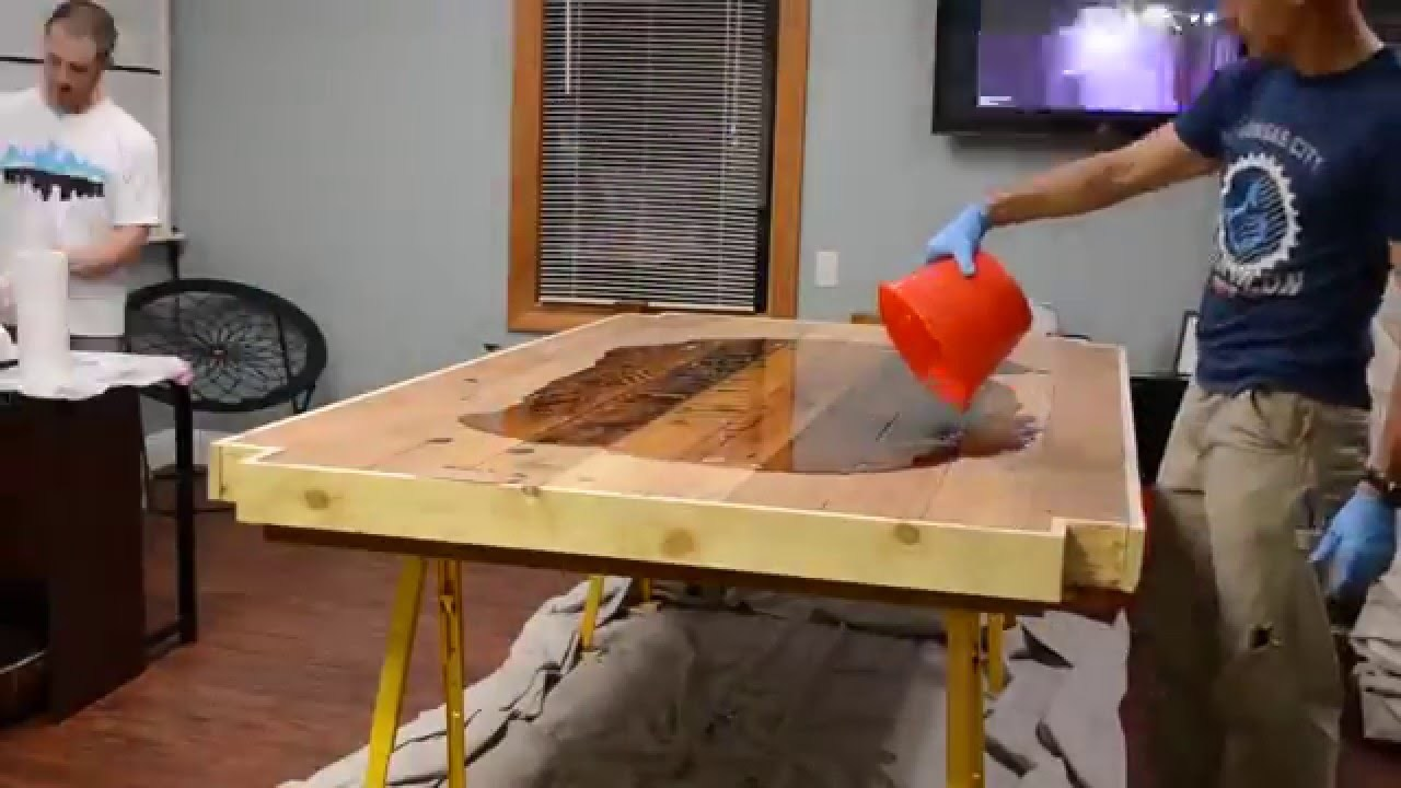 How to make a DIY Epoxy Resin Table - River Table – Step-by-Step Guide -- Epoxy tabletop preparation