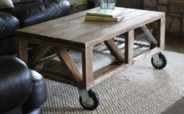 How to Make a Coffee Table -- Step-by-Step DIY Guide -- Rustic coffee table