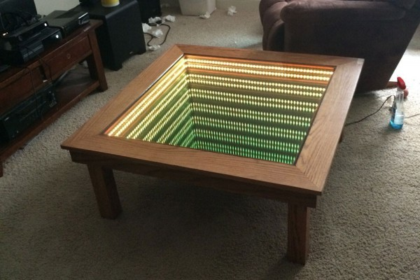 How to Make a Coffee Table -- Step-by-Step DIY Guide -- Just don't fall in :)
