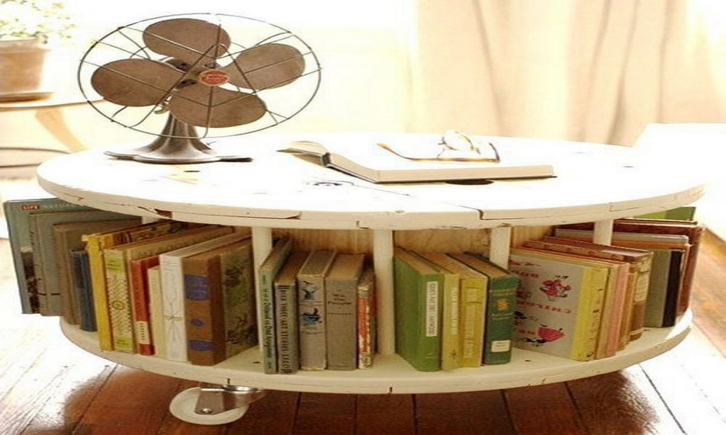 How to Make a Coffee Table -- Step-by-Step DIY Guide -- Large reels from industrial cable are rare but ideal coffee table template